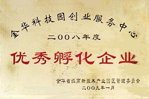 53KF荣获2008年度优秀孵化企业